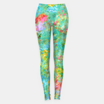 Thumbnail image of Tropical Waters Abstract |  Leggings, Live Heroes