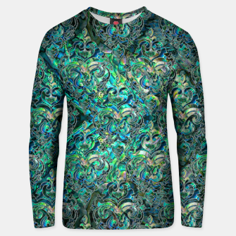Thumbnail image of Persian Oriental pattern abalone and silver Cotton sweater, Live Heroes