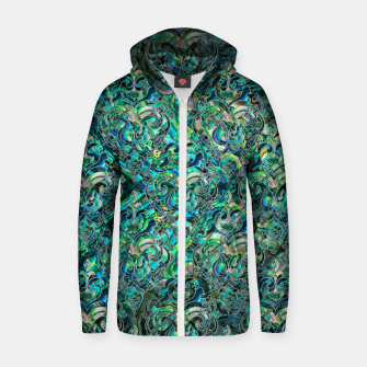 Thumbnail image of Persian Oriental pattern abalone and silver Cotton zip up hoodie, Live Heroes