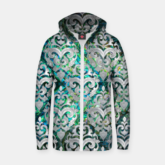Thumbnail image of Persian Oriental  pattern abalone and pearl Cotton zip up hoodie, Live Heroes