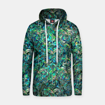 Thumbnail image of Persian Oriental pattern abalone and silver Cotton hoodie, Live Heroes