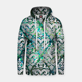 Thumbnail image of Persian Oriental  pattern abalone and pearl Cotton hoodie, Live Heroes