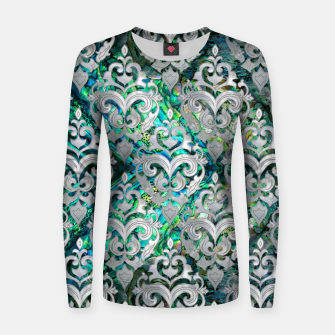 Thumbnail image of Persian Oriental  pattern abalone and pearl Woman cotton sweater, Live Heroes