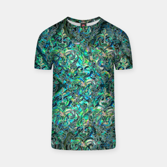 Thumbnail image of Persian Oriental pattern abalone and silver T-shirt, Live Heroes