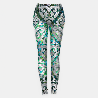 Thumbnail image of Persian Oriental  pattern abalone and pearl Leggings, Live Heroes