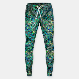 Thumbnail image of Persian Oriental pattern abalone and silver Cotton sweatpants, Live Heroes