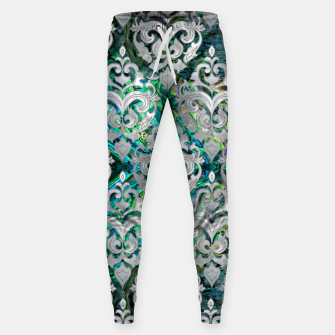 Thumbnail image of Persian Oriental  pattern abalone and pearl Cotton sweatpants, Live Heroes