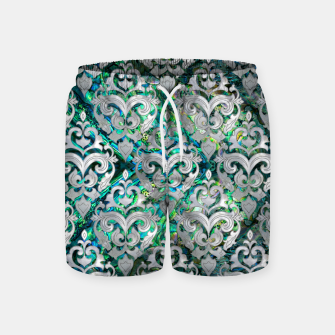 Thumbnail image of Persian Oriental  pattern abalone and pearl Swim Shorts, Live Heroes