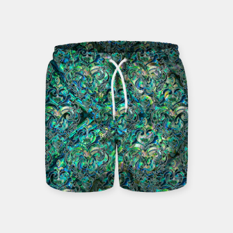 Thumbnail image of Persian Oriental pattern abalone and silver Swim Shorts, Live Heroes