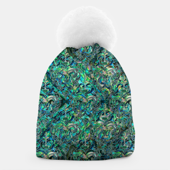 Thumbnail image of Persian Oriental pattern abalone and silver Beanie, Live Heroes