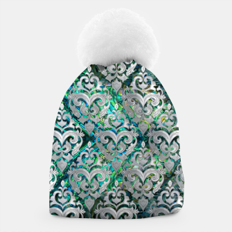 Thumbnail image of Persian Oriental  pattern abalone and pearl Beanie, Live Heroes