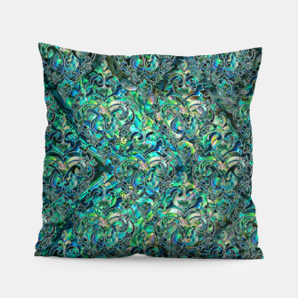 Thumbnail image of Persian Oriental pattern abalone and silver Pillow, Live Heroes