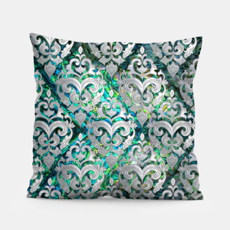 Thumbnail image of Persian Oriental  pattern abalone and pearl Pillow, Live Heroes