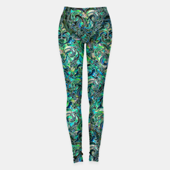 Thumbnail image of Persian Oriental pattern abalone and silver Leggings, Live Heroes