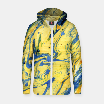 Thumbnail image of Colors on the Lake Marbling |  Cotton zip up hoodie, Live Heroes