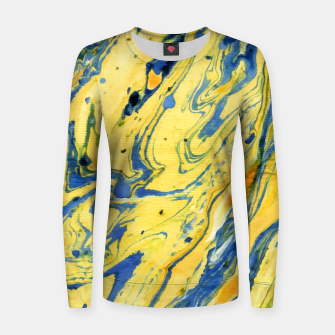 Thumbnail image of Colors on the Lake Marbling |  Woman cotton sweater, Live Heroes