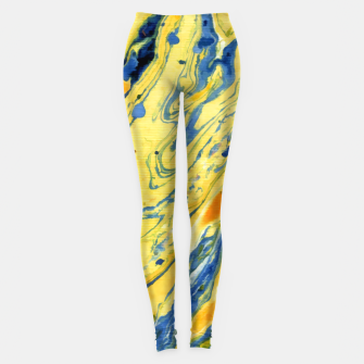 Thumbnail image of Colors on the Lake Marbling |  Leggings, Live Heroes