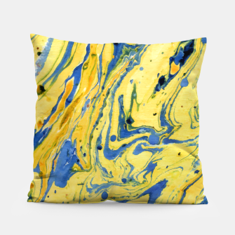 Thumbnail image of Colors on the Lake Marbling |  Pillow, Live Heroes