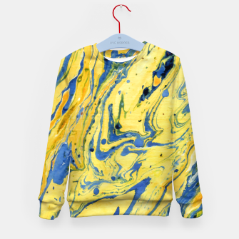 Thumbnail image of Colors on the Lake Marbling |  Kid's sweater, Live Heroes