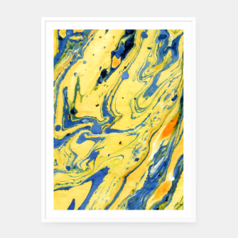 Thumbnail image of Colors on the Lake Marbling |  Framed poster, Live Heroes