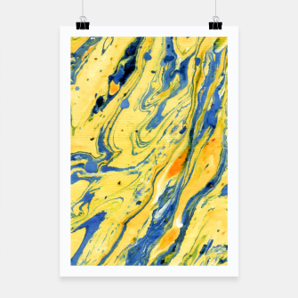 Thumbnail image of Colors on the Lake Marbling |  Poster, Live Heroes