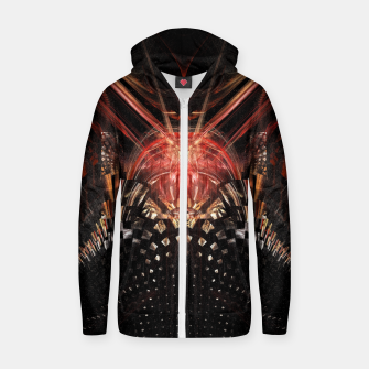 Thumbnail image of Perception Abstract |  Cotton zip up hoodie, Live Heroes