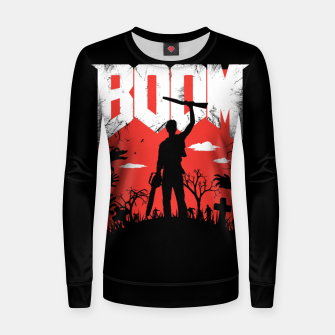 Thumbnail image of This Is My Boomstick Woman cotton sweater, Live Heroes