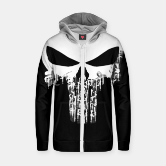 Thumbnail image of Weapons Of Punishment Cotton zip up hoodie, Live Heroes