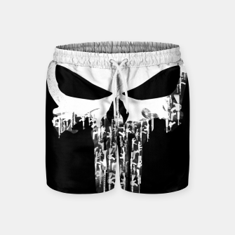 Thumbnail image of Weapons Of Punishment Swim Shorts, Live Heroes
