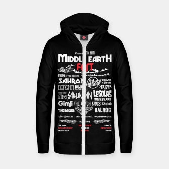 Miniature de image de Middle Earth Fest Cotton zip up hoodie, Live Heroes