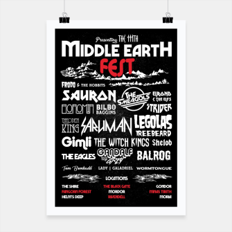 Thumbnail image of Middle Earth Fest Poster, Live Heroes