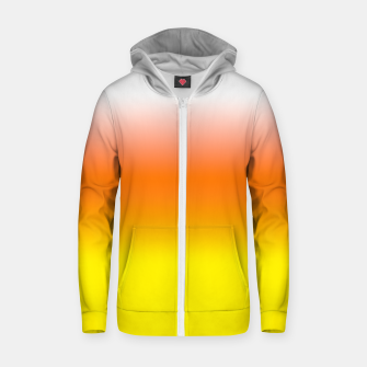 Yellow Orange and White Halloween Candy Corn Cotton zip up hoodie thumbnail image