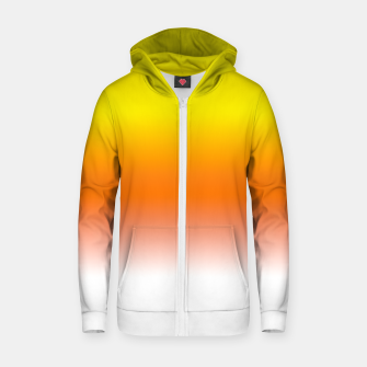 Miniatur Yellow Orange and White Halloween Candy Corn Cotton zip up hoodie, Live Heroes