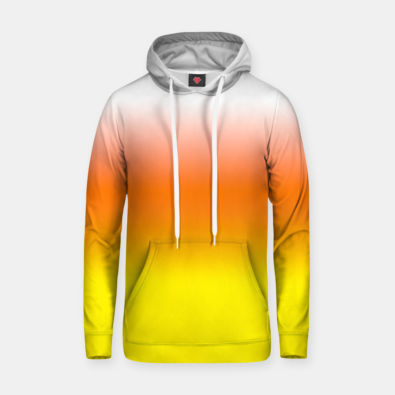 Image of Yellow Orange and White Halloween Candy Corn Cotton hoodie - Live Heroes