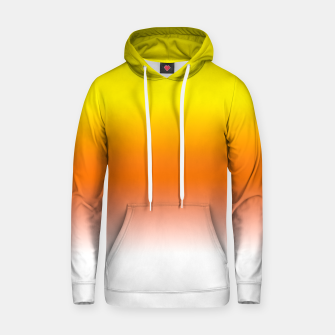 Yellow Orange and White Halloween Candy Corn Cotton hoodie thumbnail image