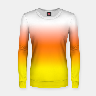 Yellow Orange and White Halloween Candy Corn Woman cotton sweater thumbnail image