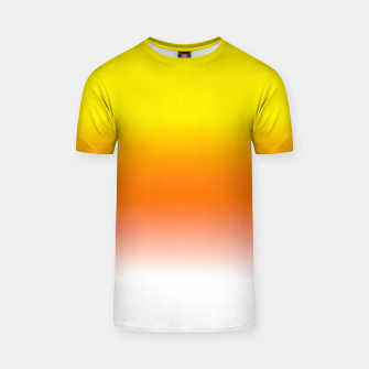 Miniatur Yellow Orange and White Halloween Candy Corn T-shirt, Live Heroes