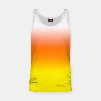 Yellow Orange and White Halloween Candy Corn Tank Top thumbnail image