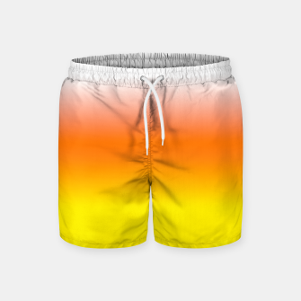 Yellow Orange and White Halloween Candy Corn Swim Shorts thumbnail image