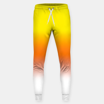 Yellow Orange and White Halloween Candy Corn Cotton sweatpants thumbnail image
