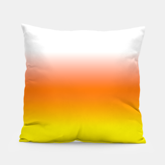 Yellow Orange and White Halloween Candy Corn Pillow thumbnail image