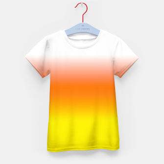 Yellow Orange and White Halloween Candy Corn Kid's t-shirt thumbnail image