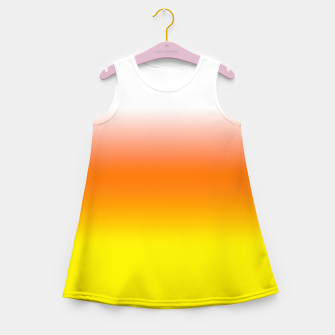 Yellow Orange and White Halloween Candy Corn Girl's summer dress thumbnail image