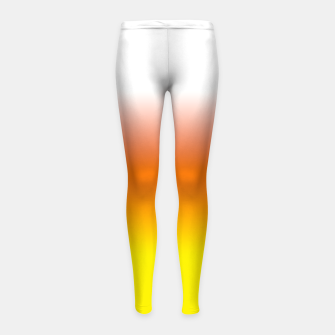 Yellow Orange and White Halloween Candy Corn Girl's leggings thumbnail image