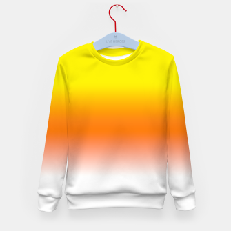 Yellow Orange and White Halloween Candy Corn Kid's sweater thumbnail image