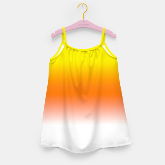 Yellow Orange and White Halloween Candy Corn Girl's dress thumbnail image
