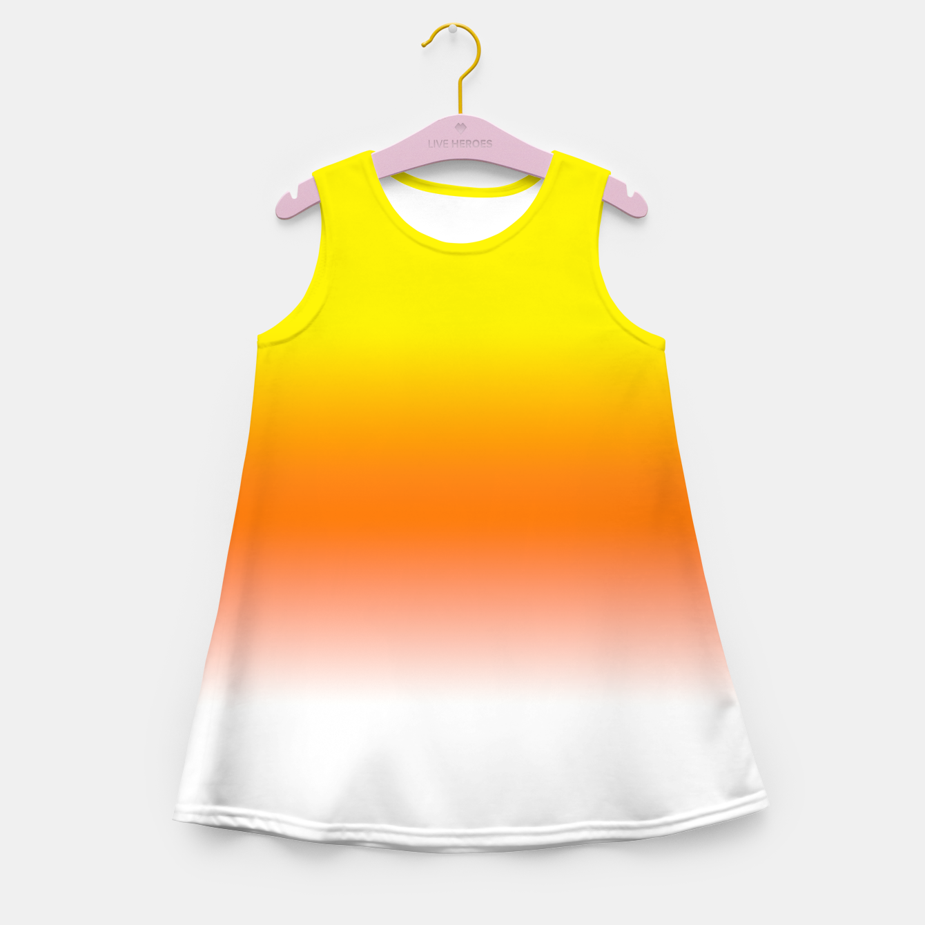 Image of Yellow Orange and White Halloween Candy Corn Girl's summer dress - Live Heroes