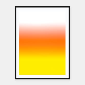 Yellow Orange and White Halloween Candy Corn Framed poster thumbnail image