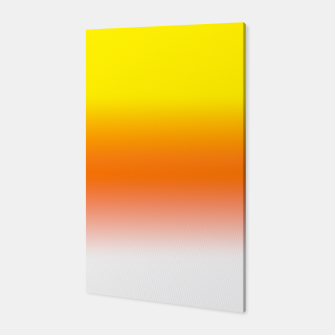 Yellow Orange and White Halloween Candy Corn Canvas thumbnail image