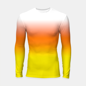 Yellow Orange and White Halloween Candy Corn Longsleeve rashguard  thumbnail image